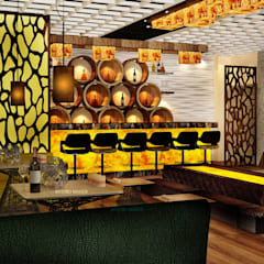 Asian style bars & clubs by INTERIO MAKER Asian
