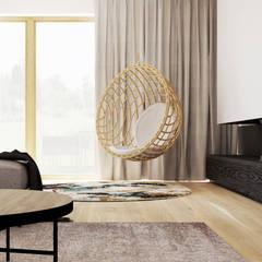 Dom jednorodzinny w Wadowicach Minimalistyczny salon od TIKA DESIGN Minimalistyczny