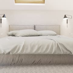 Dom jednorodzinny w Wadowicach Minimalistyczna sypialnia od TIKA DESIGN Minimalistyczny