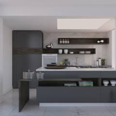 NõodDesignContract – Studio Kitchen:  tarz Küçük Mutfak, Modern