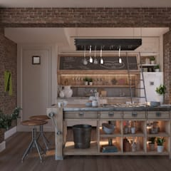Small kitchens by NõodDesignContract, Country