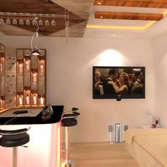 Interior Designing In Hyderabad:  Wine cellar by Palle Interiors,Modern Wood-Plastic Composite
