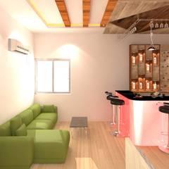 Interior Designing Of Duplex House:  Wine cellar by Palle Interiors,Modern Wood Wood effect