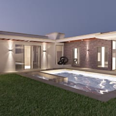 Casas unifamiliares de estilo  por SG Design Studio , Ecléctico Hormigón