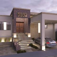 منزل عائلي صغير تنفيذ SG Design Studio , إنتقائي أسمنت