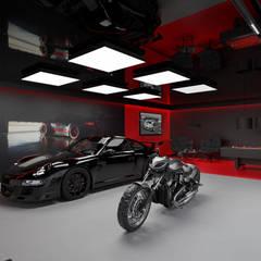 Garasi oleh MOONFIELD STUDIO, Modern