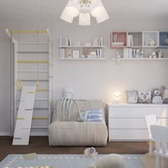 Baby room by 'INTSTYLE', Scandinavian Wood Wood effect