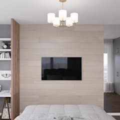 Small bedroom by 'INTSTYLE', Scandinavian Wood Wood effect