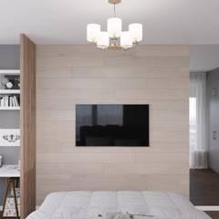 Dormitorios pequeños de estilo  por 'INTSTYLE' , Escandinavo Madera Acabado en madera