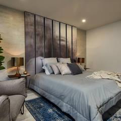 Apartamento Gran Reserva: Habitaciones de estilo  por CAJA BLANCA, Ecléctico