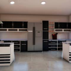 Casa Villegas: Cocinas integrales de estilo  por Trazos Studio SAS, Clásico