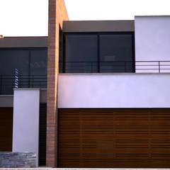 Casa Campestre en Potrerito : Casas campestres de estilo  por Velasco Arquitectura, Moderno Ladrillos