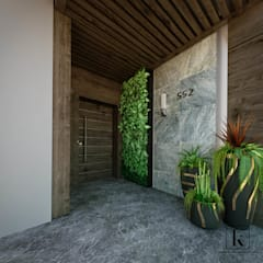 فيلا سكنية الممر الحديث، المدخل و الدرج من Karim Elhalawany Studio حداثي