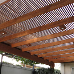 Terrace by Comercial Dominguez, Rustic Wood Wood effect