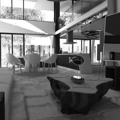 CASA HABITACIÓN 2019: Salas de estilo  por Frattale, Escandinavo Concreto