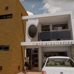 Дома на одну семью в . Автор – RIANSLARQUITECTOS, Минимализм Бамбук Зеленый