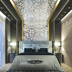 master bedroom:  غرفة نوم تنفيذ Interior & exterior design, حداثي
