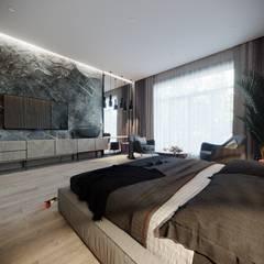 Спальня: Спальни в . Автор – Студия Aрхитектуры и Дизайна 'Aleksey Marinin', Эклектичный Твердая древесина Многоцветный