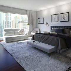 Home Staging Virtual - Venta de Apartamento sobre Planos.....: Habitaciones de estilo  por Arkiline Arquitectura Optativa, Moderno Aglomerado