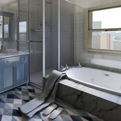 Home Staging Virtual - Venta de Apartamento sobre Planos.....: Baños de estilo  por Arkiline Arquitectura Optativa, Moderno Aglomerado