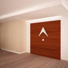 Remodelaci´ón oficina de consultoría: Pasillos y vestíbulos de estilo  por Velasco Arquitectura, Moderno Madera Acabado en madera