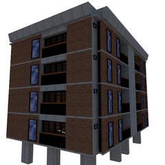 Balcony by Bioform, Colonial Bricks