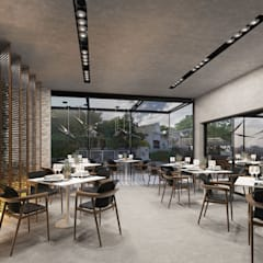 COMERCIO NR: Restaurantes de estilo  por LINEA estudio, Moderno