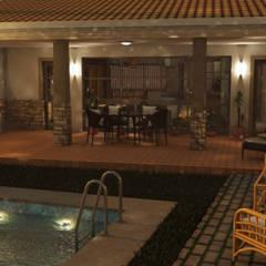Vivienda unifamiliar con piscina en Cuenca (Villar del Infantado): Piscinas de jardín de estilo  de Alfaro Arquitecto 3A3, Clásico