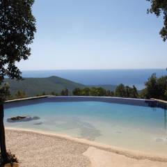 Infinity pool by Balsamini Gardens & Pools Design, Modern