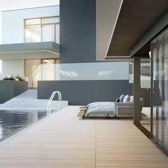 Infinity pool by Budownictwo i Architektura Marcin Sieradzki - BIAMS, Minimalist Stone