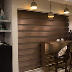 Premium 3 BHK Interiors for a Doctor's residence at Chennai Modern dining room by Aikaa Designs Modern