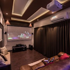 Modern style media rooms by Aikaa Designs Modern