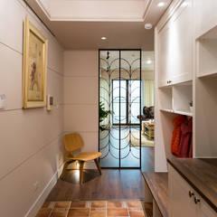 Pasillos y recibidores de estilo  por 松泰室內裝修設計工程有限公司 , Rural Azulejos