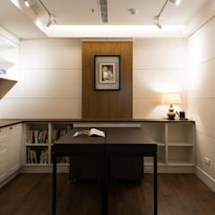 Study/office by 松泰室內裝修設計工程有限公司, Country Solid Wood Multicolored