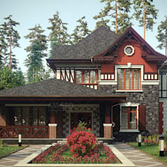 Country house by Архитектурная студия AM-SEO Евгения Содылева, Scandinavian اینٹوں