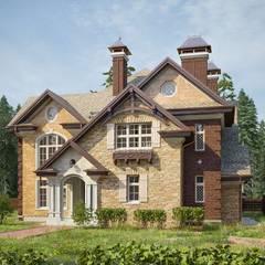 Villas by Архитектурная студия AM-SEO Евгения Содылева, Country Ceramic