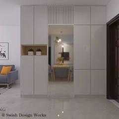 St George's Lane:  Corridor, hallway by Swish Design Works,Modern Plywood