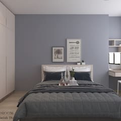 St George's Lane:  Small bedroom by Swish Design Works,Modern Plywood