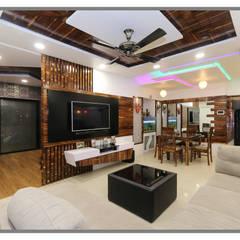 Ruang Keluarga Gaya Asia Oleh AARAYISHH (Mumbai & Pune) Asia