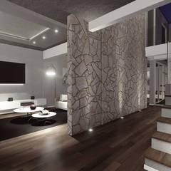 Proyecto Pacheco - Mayo 2019: Pasillos y recibidores de estilo  por Hito Arquitectura,Moderno