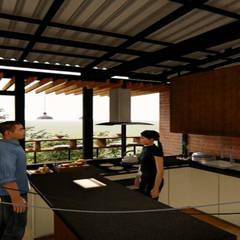 Casa los Arrayanes : Cocinas integrales de estilo  por FRACTAL Arquitectura, Clásico Aglomerado