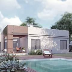 Vivienda 179.84 m2 : Baños de estilo  por LGA CONSTRUCTORA,Clásico