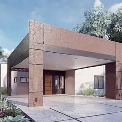 Дома на одну семью в . Автор – LGA CONSTRUCTORA, Минимализм Резина
