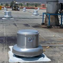 Atap datar oleh NAKOMSA KOMFORT AMBIENTAL, Industrial Aluminium/Seng