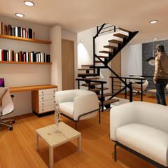 أجهزة إلكترونية تنفيذ Arqcubo Arquitectos, تبسيطي خشب Wood effect