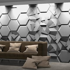 ZARIA 3d wall panels - Manufacturer ZICARO.PL Nowoczesne ściany i podłogi od ZICARO - producent paneli 3D o strukturze betonu architektonicznego Nowoczesny Ceramiczny