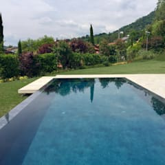 Infinity pool by Water & Wellness srl, Modern