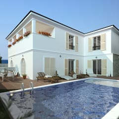 Villas by MM Rendering Studio, Mediterranean Stone