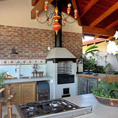 Casa Haras - Monte Mor, SP Cozinhas campestres por Célia Orlandi por Ato em Arte Campestre