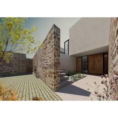 Rumah pasif oleh AWA arquitectos, Minimalis Batu